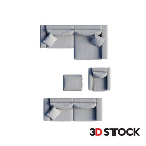 2d Sofa Set