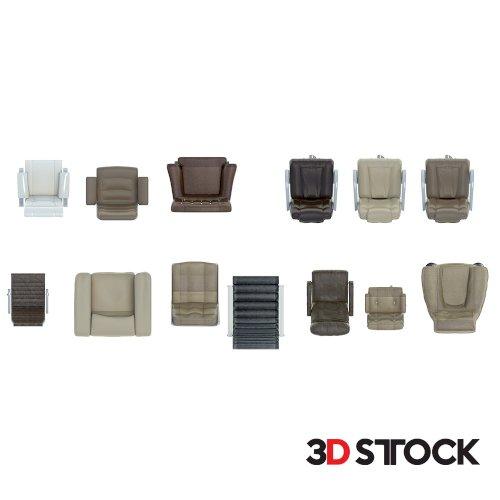2d Chair Set